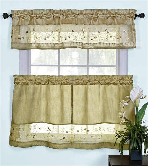 tier curtains and valances fairfield curtains valance tier pairs taupe by achim