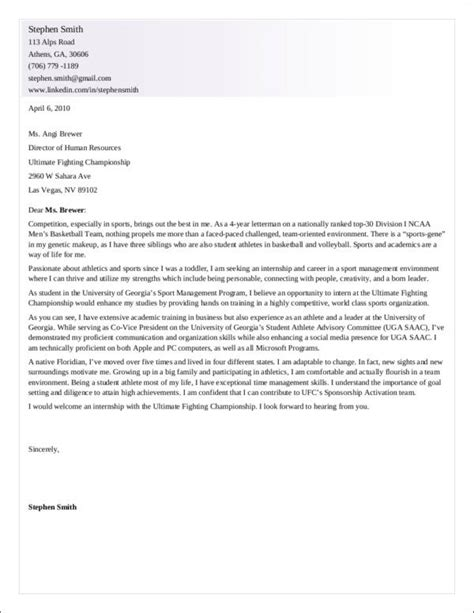 28 cover letter for sports marketing sports marketing