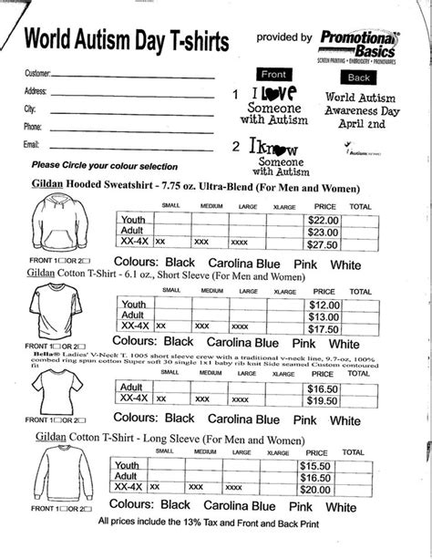 nj pta membership card template spirit wear form pta spirit wear order