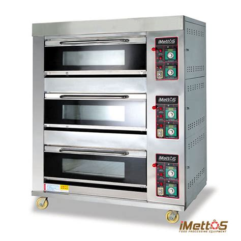 Oven Gas Bakery imettos arf 60h 3 layers 6 pans commercial ovens gas baking oven series