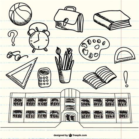 imagenes en blanco y negro de utiles escolares garabatos de 250 tiles escolares en bloc de notas descargar