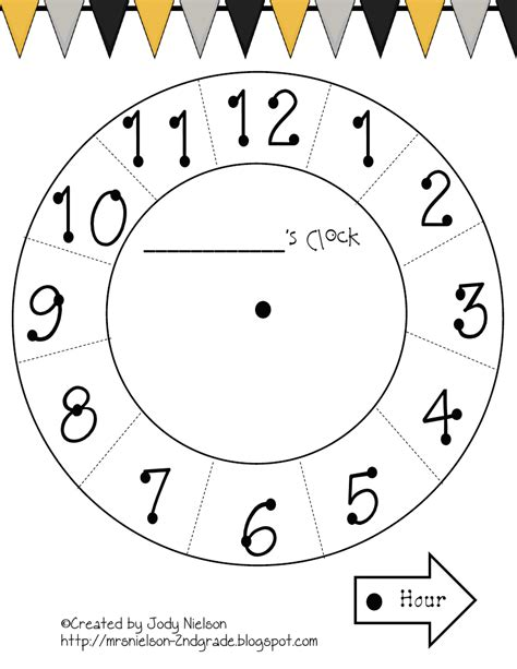 Paper Plate Clock Craft - paper plate clock template pdf teaching