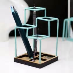 Funky Kitchen Ideas Block Sketch Desk Tidy Blue Designer Desk Organiser