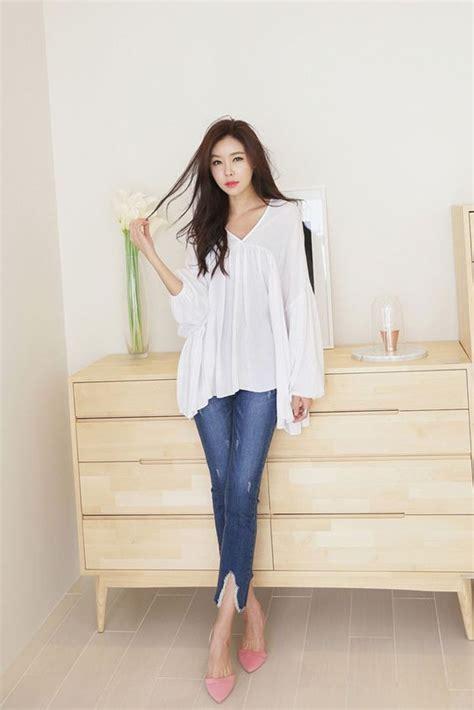 Ruffle Korea Top Blouse light ruffle blouse korean fashion