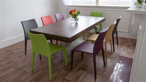 Colored Dining Table Multi Colored Dining Chairs With Espresso Table