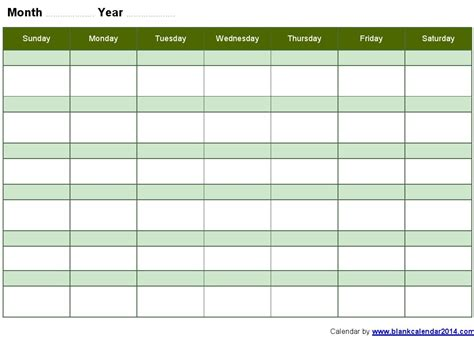 9 best images of monthly schedule template printable