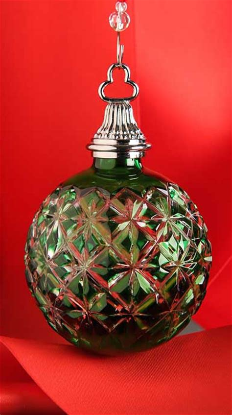 Waterford Ornaments - waterford emerald cased ornament