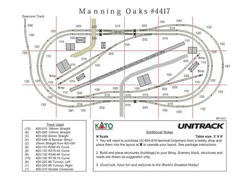 kato unitrack layout guide book kato n scale quot manning oaks quot unitrack track layout train