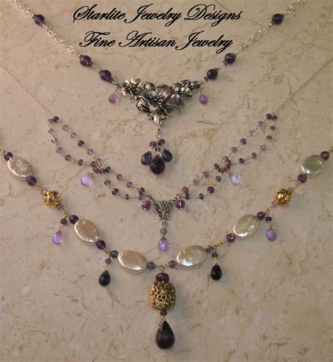 Handmade Jewelry Boutique - starlite jewelry designs briolettte necklace handmade