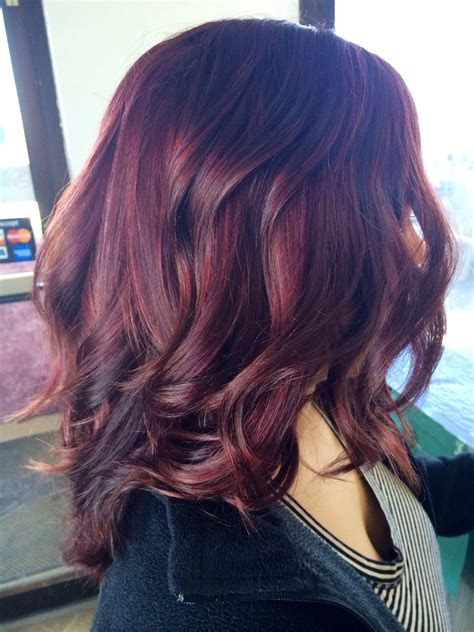 5vr hair color violet kenra color flatiron curls violet highlights