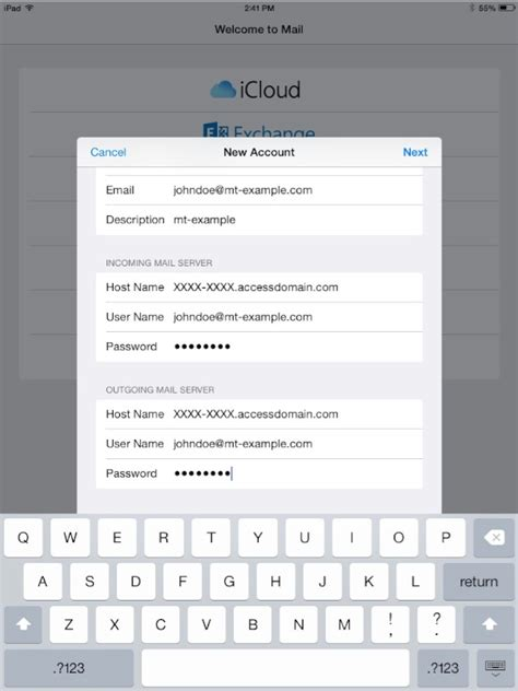 Change Layout Email Ipad | how can i set up email on an ipad media temple