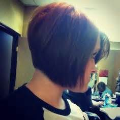 bobs with slight stack stacked a line haircut womens slight a line stack