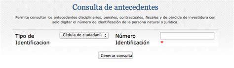 consultar certificado de antecedentes en colombia certificado de antecedentes disciplinarios por c 233 dula en