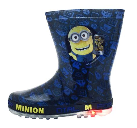 kids light up boots kids character flashing light up wellington boots rain
