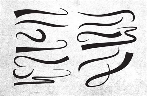 tattoo font underline 25 vector swooshes underlines and ornaments body art