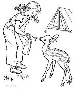 Camping sheet to color for kids 005