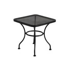 hdts black patio table black wrought iron square patio side tabl in cheap price on black wrought iron outdoor furniture