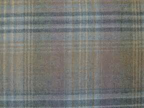 curtain fabric wool tartan mauve grey check plaid tweed