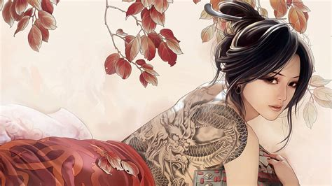 cartoon tattoo girl wallpaper hot anime girl wallpapers hd wallpaper of anime