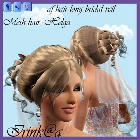 sims 3 cc wedding hair irishkakic s af hair long bridal veil