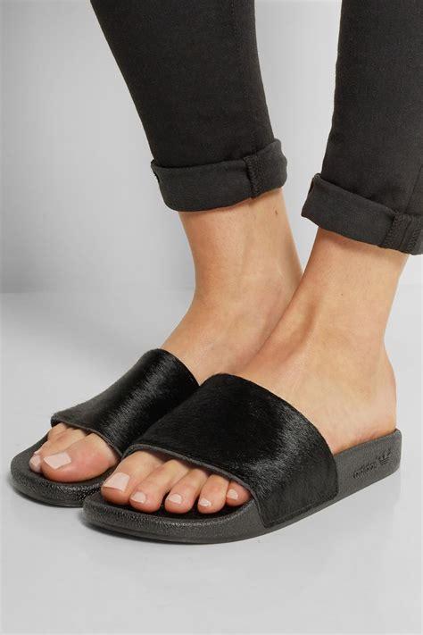 Adidas Adilette Chunky Sandal adidas originals adilette calf hair and rubber slides http net a porter shoes