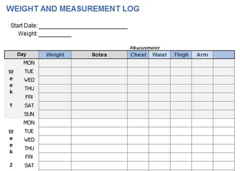 exercise chart template gym workout template excel weekly workout