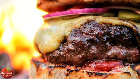 203 best food from my kitchen images on pinterest most epic cheeseburger stone fried in the forest youtube