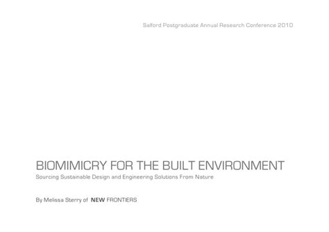 design for environment slideshare biomimicry in the built environment sparc10