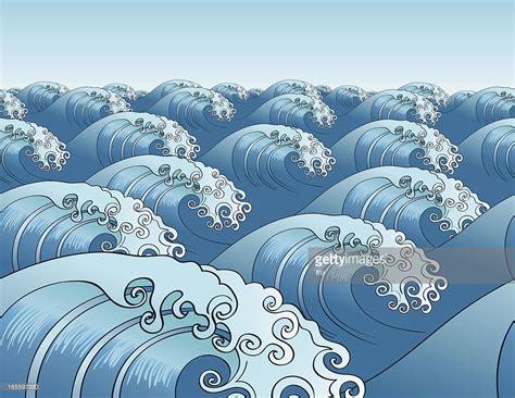 wave pattern vector art japanese seamless wave pattern horizontal vector art