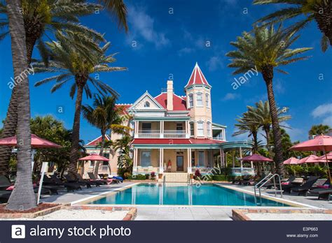 buy house in florida usa pool at southernmost house inn in key west florida usa stock photo royalty free