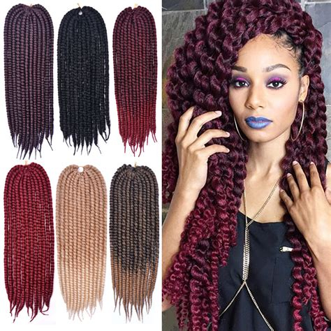 crochet braids with color 24 inch 6 color mambo twist crochet braids hair