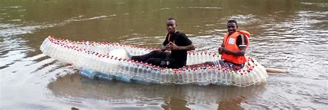 water bottle boat cameroon student nonprofit recycles plastic bottles into boats