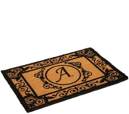 Initial Doormats - 2 x 3 outdoor monogram initial coir doormat page 1