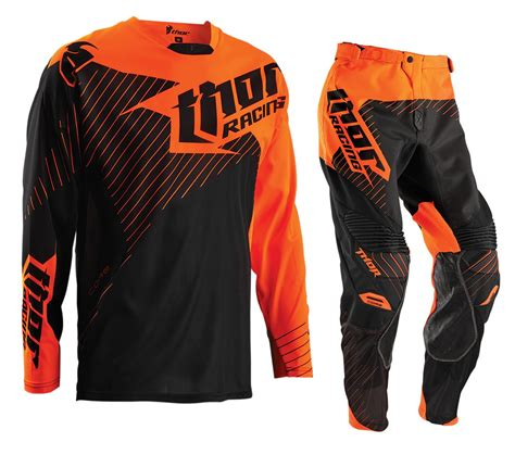 Baju Sepeda Thor Motocross Jersey Motor Cross new thor mx gear set hux flo orange black motocross free jersey ebay