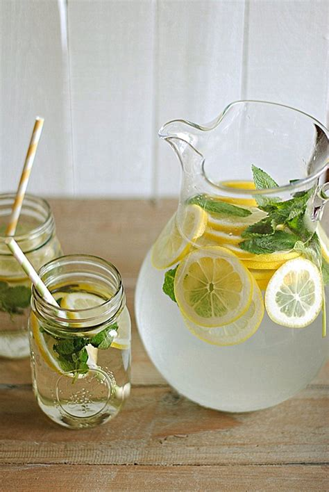 Lemon Water With Mint Detox by Eat Yourself 187 Lemon Water With Fresh Mint
