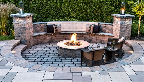 Backyard With Firepit Pits Pit Design Installation Service Backyard Firepit Ideas Rochester Ny Acorn