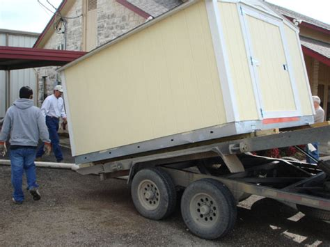 Shed Moving Trailer by Portable Building Photos