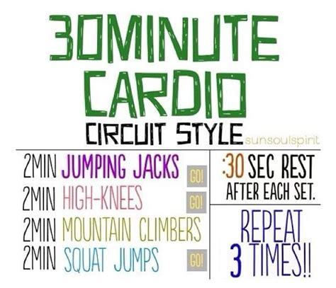 30 minute cardio circuit style fitness