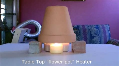 candle powered space heater diy air heater 190f quot table