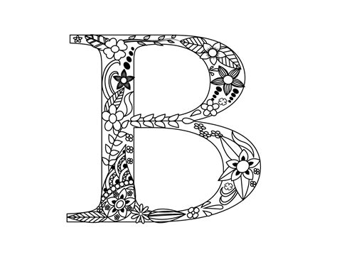 Letter C Coloring Pages For Adults by Printable Letter B Coloring Pages For