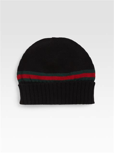 Gucci Knit Hat In Black For Lyst