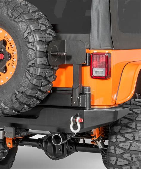 tire swing mount hyline offroad swing away tire carrier rotopax mounting