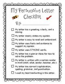 my persuasive letter checklist student editing self asse