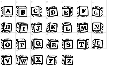 LMS Lance's Letter Blocks Font   UrbanFonts.com