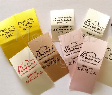 Tags For Handmade Clothes - satin labels clothing labels colour ribbon 1 quot wide