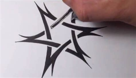 tribal tattoo star drawing a tribal of david design
