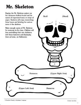 patterns human activities mr skeleton pattern and activities printable