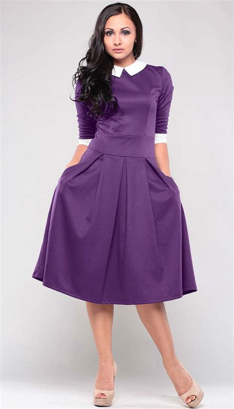Rok Midi Skirt Flare A Line Bawahan Celana Kulot Jogger purple dress pan collar autumn dress dress for flared skirt wedding dress me
