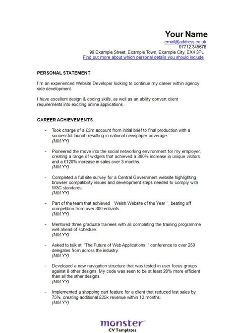 resume format for developer 30 best developer software engineer resume templates