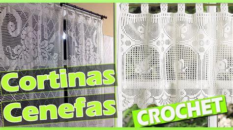 cortinas  cenefas  patrones tejidas  crochet youtube